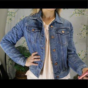 J CREW medium light wash denim jacket